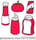 vector set of tomato and tomato ketchup 50755683