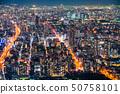 """""""大阪府""""公寓內襯·城市夜景 50758101"""