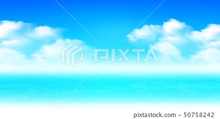 海和夏天風景背景 50758242