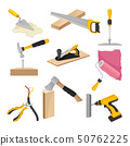 Set of construction tools. Vector illustration on white background. 50762225
