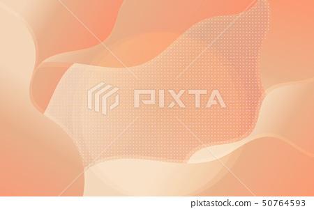Colorful Wave and circle polka dot abstract 50764593