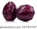 Fresh red cabbage isolated on white 50764767