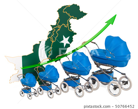 Growing birth rate in Pakistan, concept. 50766452