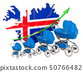 Growing birth rate in Iceland, concept. 50766482
