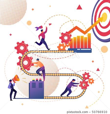 Business Process of Success Achievement Metaphor. 50766910