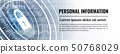 Personal Information Modern Safety Background. Vector. Web Banner Template. 50768029
