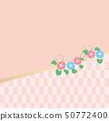배경 - 일본 모양과 나팔꽃 3 50772400