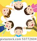 圈子黃色背景的孩子 50772604