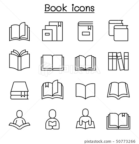 Book, Learning, Reading & education icon set in 50773266