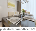 Luxury dining room interior 50776121