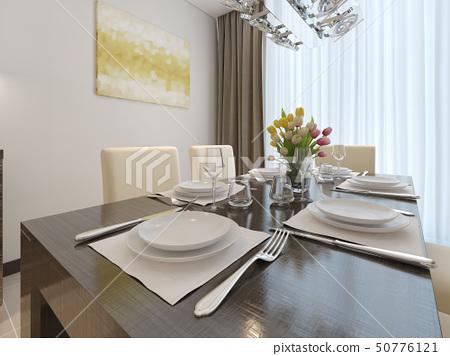 Luxury dining room interior 50776121