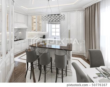 Kitchen Dining Room Art Deco Style Stock Illustration 50776167 Pixta