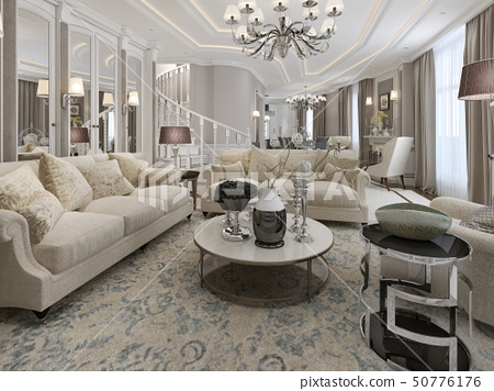Classic style living room design 50776176