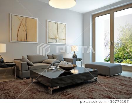 Living room scandinavian style 50776197