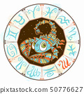 Children s horoscope icon. Zodiac for kids. Scorpio sign . Vector. Astrological symbol as cartoon 50776627