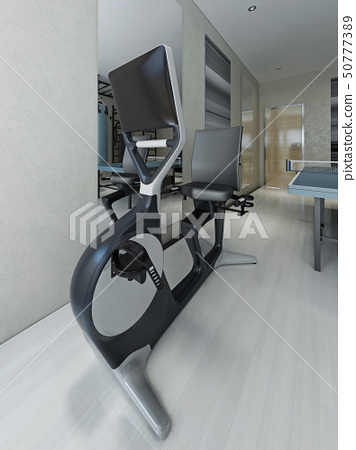 Exercise bike in gym 50777389