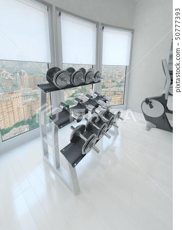 Dumbbell rack in gym 50777393