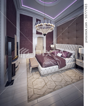 Expensive bedroom baroque style 50777403