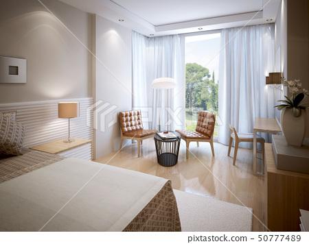 Eclectic bedroom interior 50777489