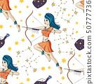 Zodiac Girl Vector Sign. 50777736