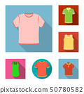 Vector design of clothes and wear icon. Collection of clothes and short stock vector illustration. 50780582