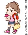 女孩插圖 50780930