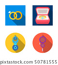 Vector illustration of jewelery and necklace icon. Set of jewelery and pendent stock vector 50781555