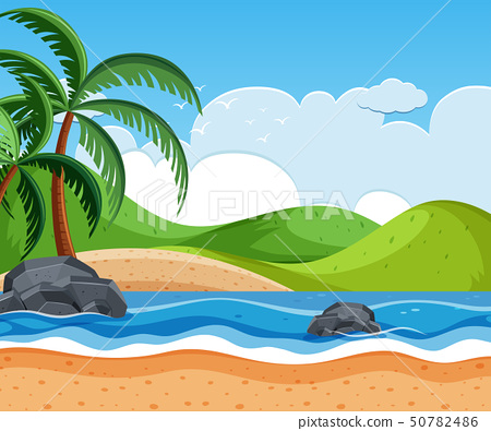 beautiful beach background scene 50782486