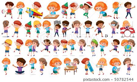 Set of children character 50782544