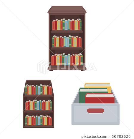Isolated object of  and  library  symbol. Set of  and textbook  stock vector illustration. 50782626