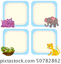 Set of animal character 50782862