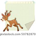 Deer on blank note 50782870