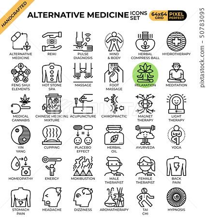 Alternative medicine concept icons 50783095