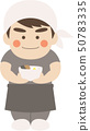 Male character ramen clerk 50783335