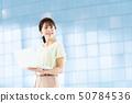 女性員工女商人企業圖像婦女與計算機一起使用職業婦女 50784536