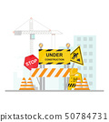 Under Construction Concept with stop, safety and 50784731