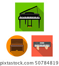 Vector design of music and piano symbol. Set of music and song stock symbol for web. 50784819