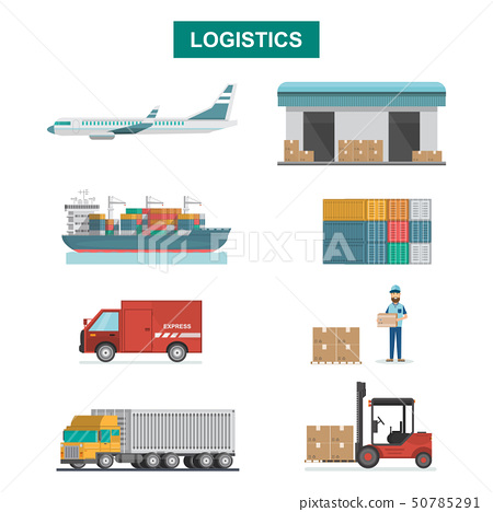 Set of icons Cargo Transportation, Packaging, 50785291