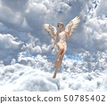 在雲彩例證材料的逗人喜愛的天使perming3DCG 50785402