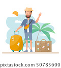 people travel. couple with bag for a vacation. 50785600