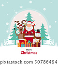 cute santa claus characters in different emotions. 50786494