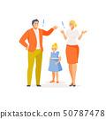 Parental quarrel vector 50787478