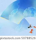 배경 - 일본 - 일본식 - 일본식 디자인 - 종이 - 금붕어 - 여름 - 축제 - 부채 - 하늘색 - 여름 방학 50788526