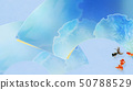 배경 - 일본 - 일본식 - 일본식 디자인 - 종이 - 금붕어 - 여름 - 축제 - 부채 - 하늘색 - 여름 방학 50788529