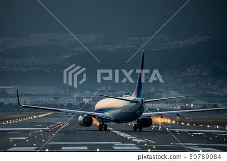 Osaka International Airport at dusk 50789084
