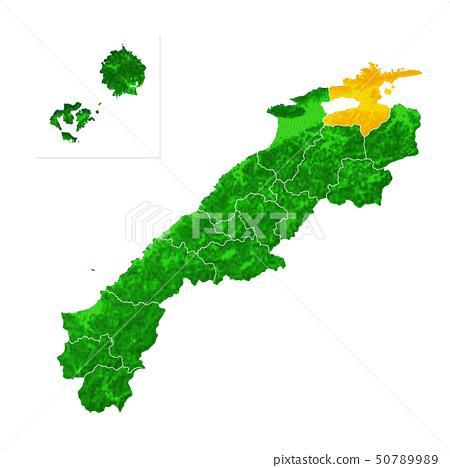 Shimane Prefecture and Matsue City Map 50789989