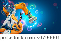 Artificial Intelligence works automation industry factory with smart robotic arms. Robot or cyborg 50790001