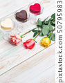 valentine love heart gift chocolate cup rose wood 50795983
