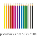 Colored pencils, crayons set, back to school 50797104