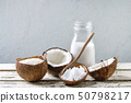 Variety of coconut products 50798217